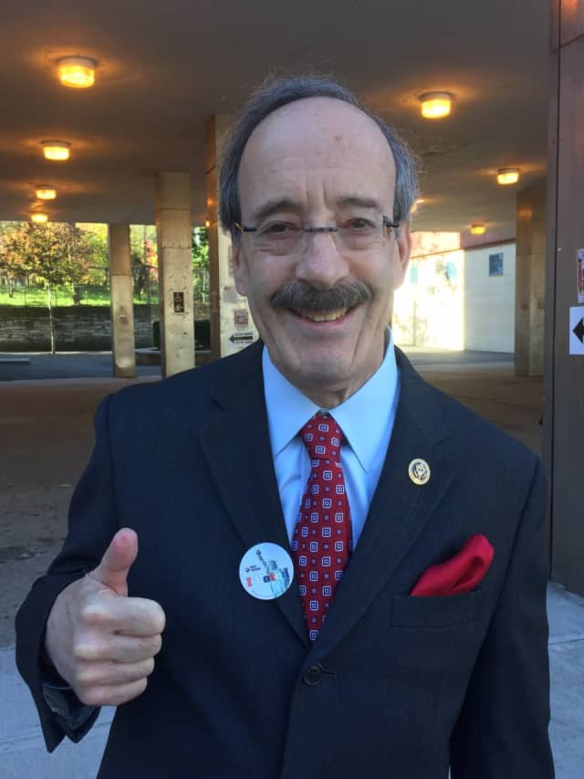 Westchester County Congressman Eliot Engel after casting his vote on Tuesday.