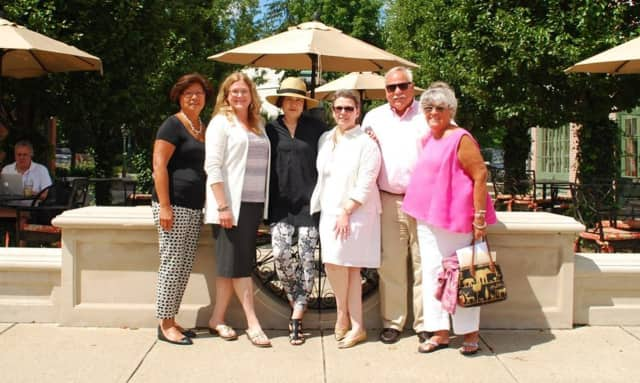 Organizers of the event: Kaye Leong of Darien Rowayton Bank; Amy Allen, DAC executive director; Nobuko Miki; Gigi Barrett; Peter Saverine; and Pat Atkin. Other organizers not pictured are David Genovese and Penny Glassmeyer.