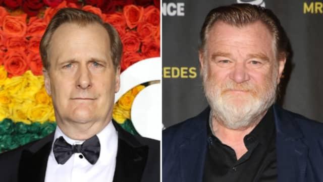 Jeff Daniels (left) plays James Comey, Brendan Gleeson plays President Trump