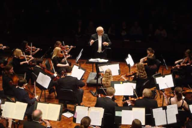 Stephen Michael Smith conducts the Danbury Community Orchestra.