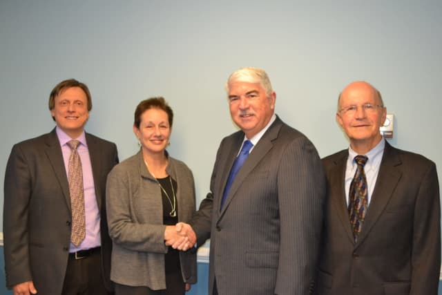 Legal Services Chief Development Officer, Tom Gabriel and CEO, Barbara Finkelstein, with Managing Partner, Albert E. Donnellan and Partner, Robert Hermann, of DelBello Donnellan Weingarten Wise and Wiederkehr.