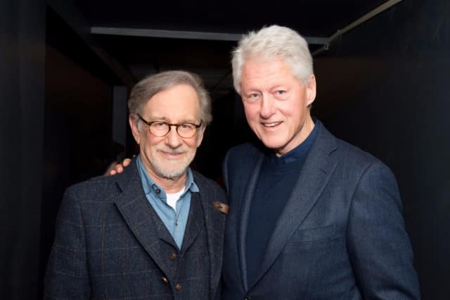 Steven Spielberg and Bill Clinton