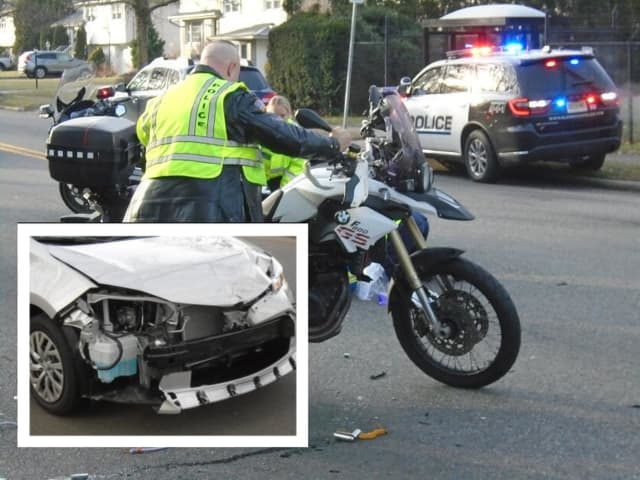 A motorcyclist hospitalized in a Friday morning crash in Glen Rock.