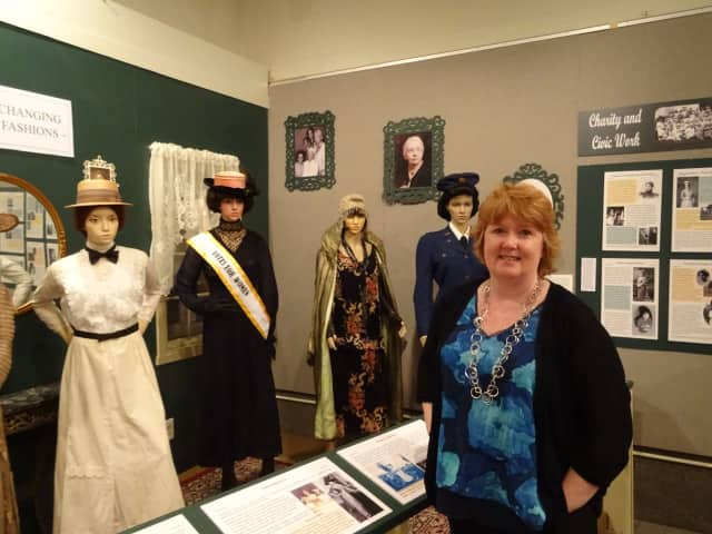 Cathy Moran Hajo is the curator for the Mahwah Museum's exhibit on the changing roles of women in Mahwah's history.