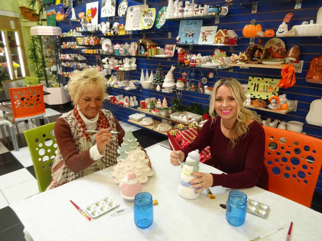 Karen Chamberlain and her daughter Bridget Lombardo launched Kim-Bridge Ceramic Art Studio in Saddle Brook last year.