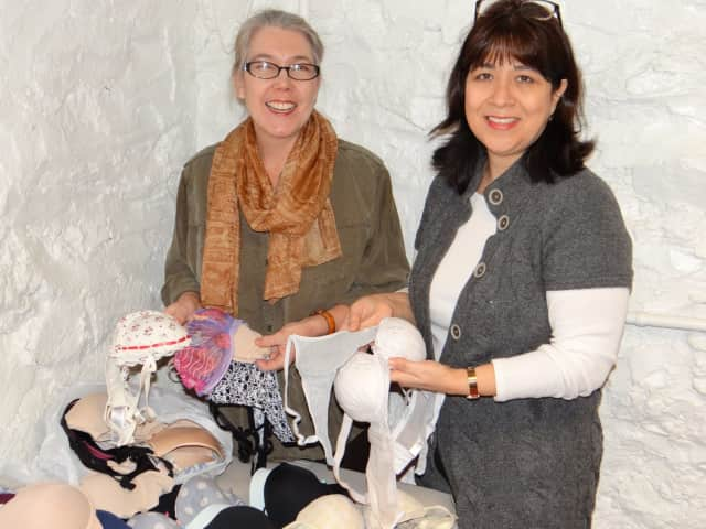 Cos Cob residents Lucy Langley, left, and Laura Delaflor, right, of The Undies Project.