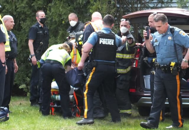 Paramus police and Ridgewood police, firefighters and EMS were among the responders.