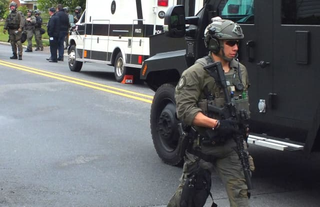 The Bergen County Regional SWAT team was summoned by Elmwood Park police.