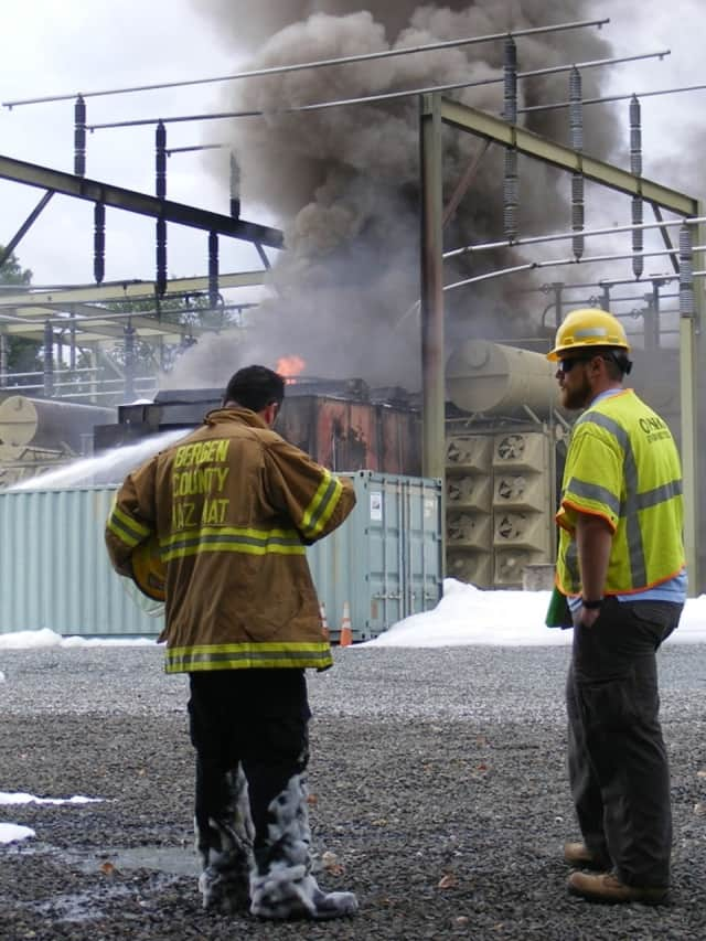 The cleanup of an explosion site on Hopper Avenue is complete.