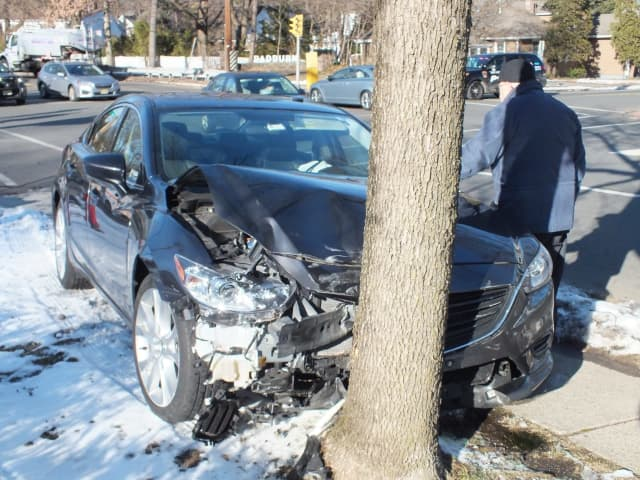 The Toyota was seriously damaged in the Fair Lawn crash.