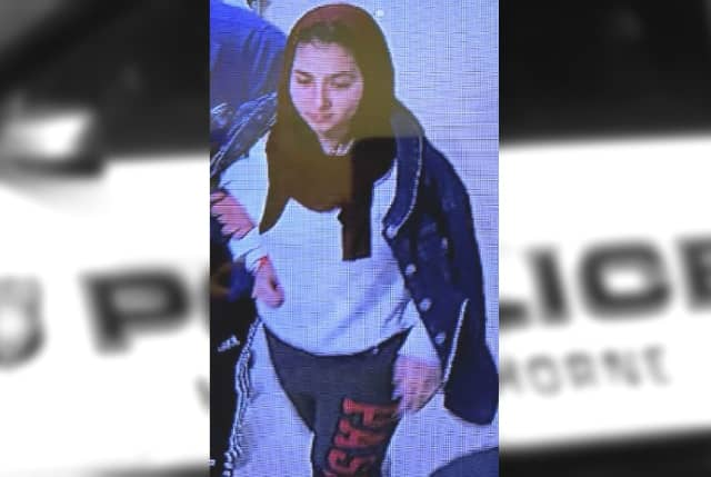 Anyone who sees, knows or knows where to find the woman in the photo is asked to contact Hawthorne Police Detective Joseph DiGeronimo at (973) 427-8300 or 6255@hawthornepdnj.org.