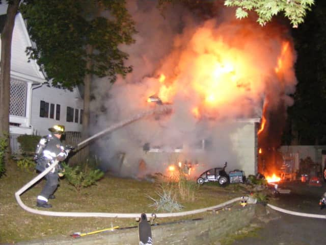 Ridgewood firefighters confined the blaze to the garage.
