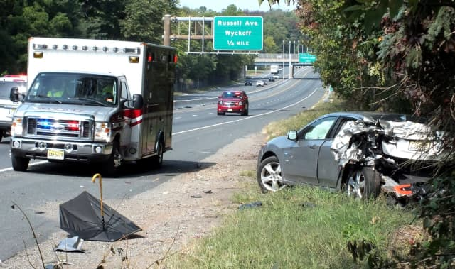 Northbound Route 208 was temporarily closed while the wreckage was cleared.