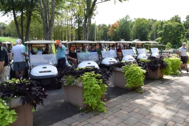 Sports giants among 75 golfers played in the Ninth Annual Witherell Golf Tournament in Greenwich.