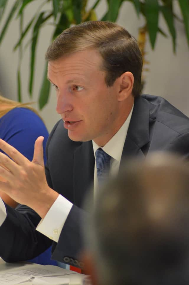 U.S. Senator Chris Murphy joined Senate Democrats in unveiling a plan to improve the nation's infrastructure.