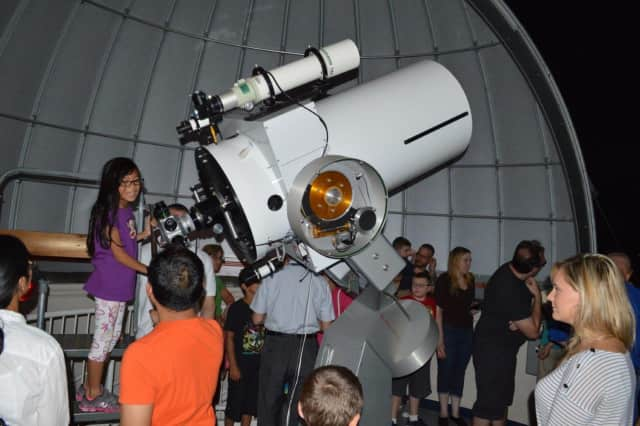 Visitors at the McDowell Observatory at DeKorte Park in Lyndhurst.