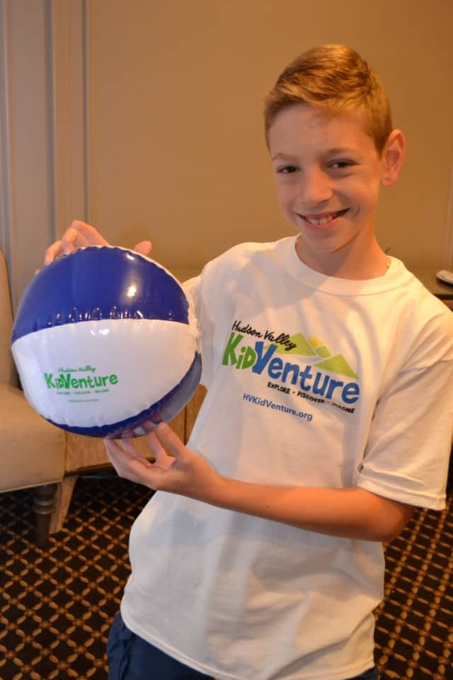 A local kid with KidVenture gear.