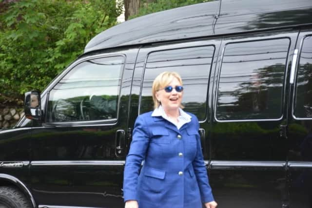 Hillary Clinton, seen here at New Castle's Memorial Day Parade, will officially become the Democratic nominee for president this week.