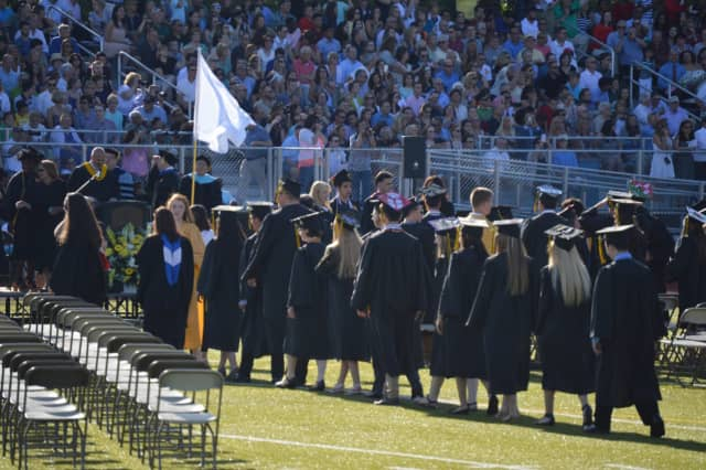 The Class of 2017 won't be on the field for graduation ceremonies. The Trumbull High graduation is moving indoors on Monday.