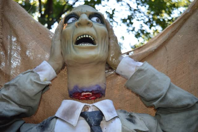 One of the many animatrons in the Stewart's haunted maze in Ridgewood.