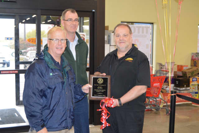 """The U.S. Small Business Administration will celebrate """"Shop Small"""" for Small Business Saturday in Danbury on Tuesday. Danbury Mayor Mark Boughton celebrates the opening of a local shop."""