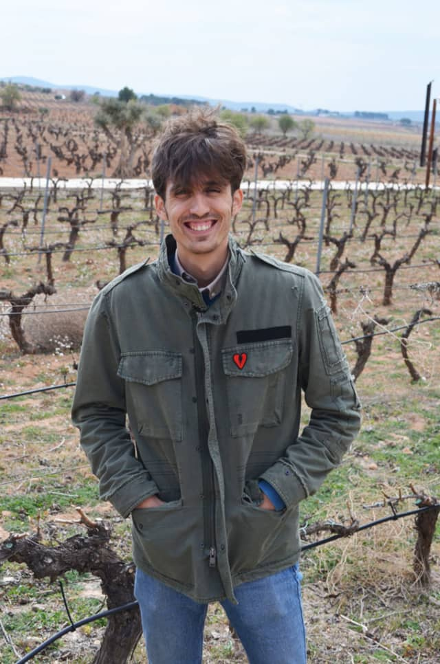 Julián López Peidro, winemaker at Pago Chozas Carrascal, in his certified organic vineyard in Utiel-Requena, Spain.