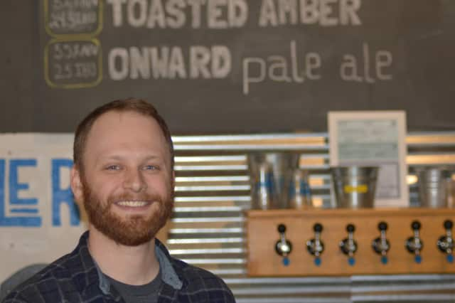 Tom Price is the new brewmaster at Half Full Brewery in Stamford. CNBC Reporter Mary Thompson broadcast from the business last week.