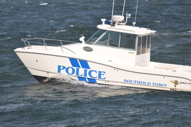 Seven people were rescued from a sinking boat by the Southhold Police marine unit.