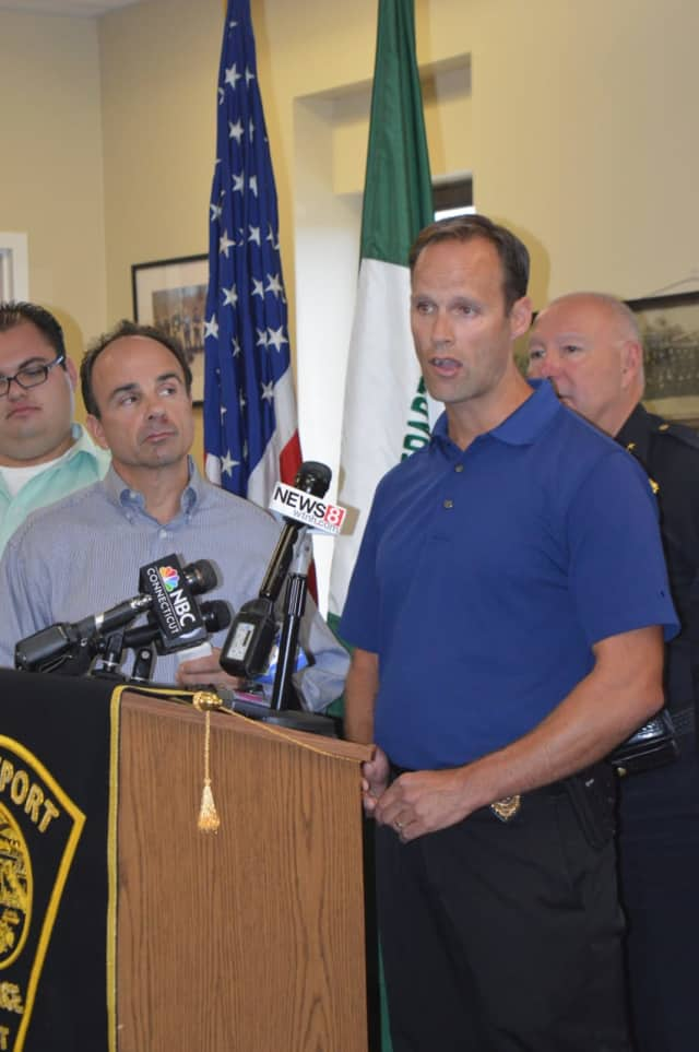 Bridgeport Police Capt. Brian Fitzgerald answers reporters' questions at a press conference last Sunday on an ambush-style shooting that left 13 wounded.