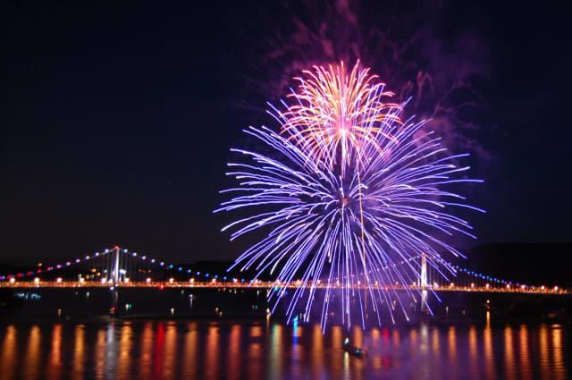 Fireworks in Poughkeepsie.