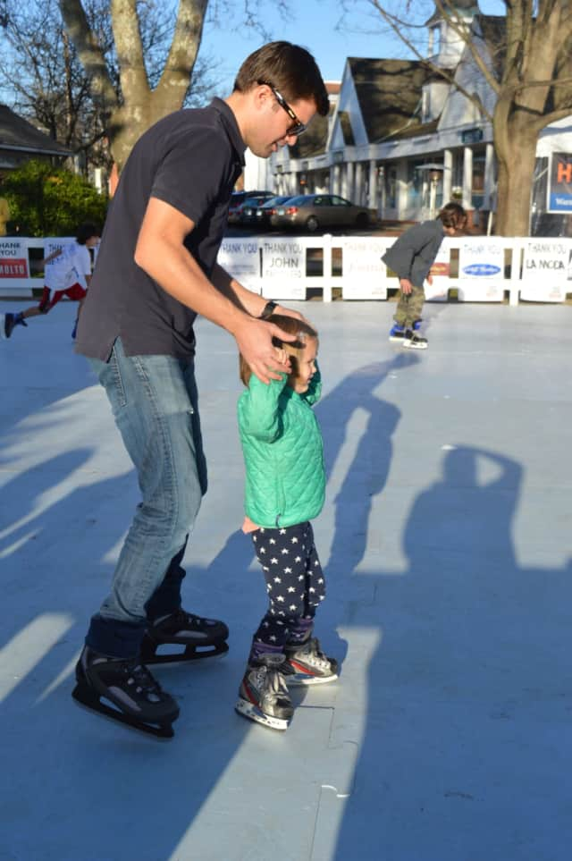 Hundreds came out to enjoy Skating on Sherman Green last year. The fundraiser takes place again this February.