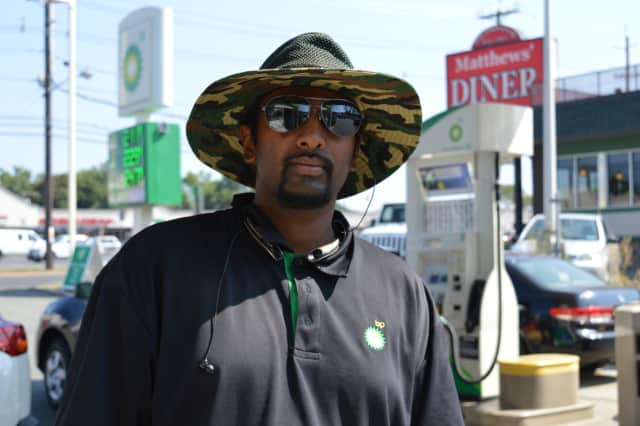 Mohammad Baksh didn't mind an 8-hour Labor Day shift at the Bergenfield BP station on New Bridge Road and South Washington Avenue.