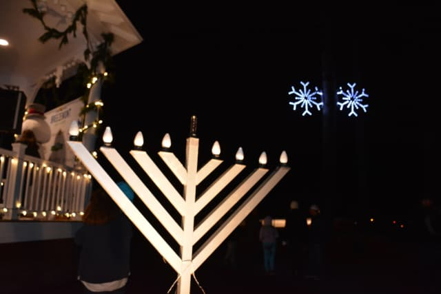 A menorah in Wampus Brook Park.