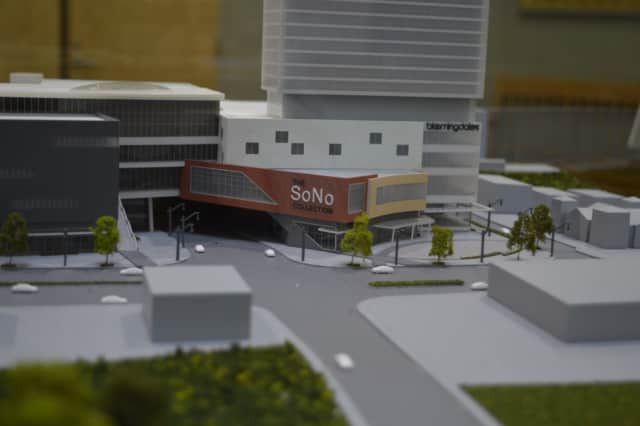 A model of the proposed design for The SoNo Collection mall. Zoning officials approved the shopping center, according to The Wall Street Journal.