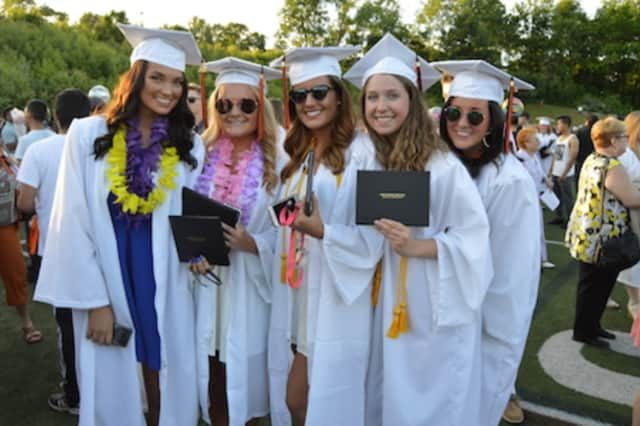 This happy group graduated last year at Shelton High School.