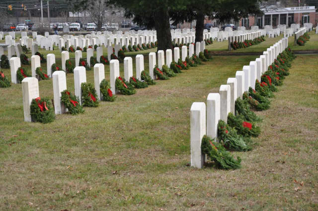 A view of Spring Grove Veterans Cemetery after the 2016 Wreaths Across America ceremony.