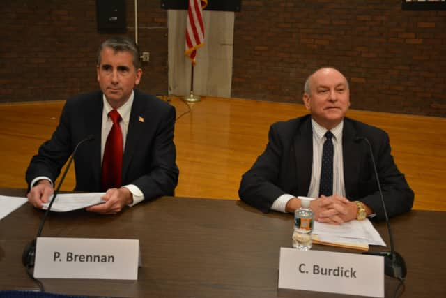 Incumbent Bedford Supervisor Chris Burdick (right) faces a challenge from political newcomer Patrick Brennan (left) in this year's election.
