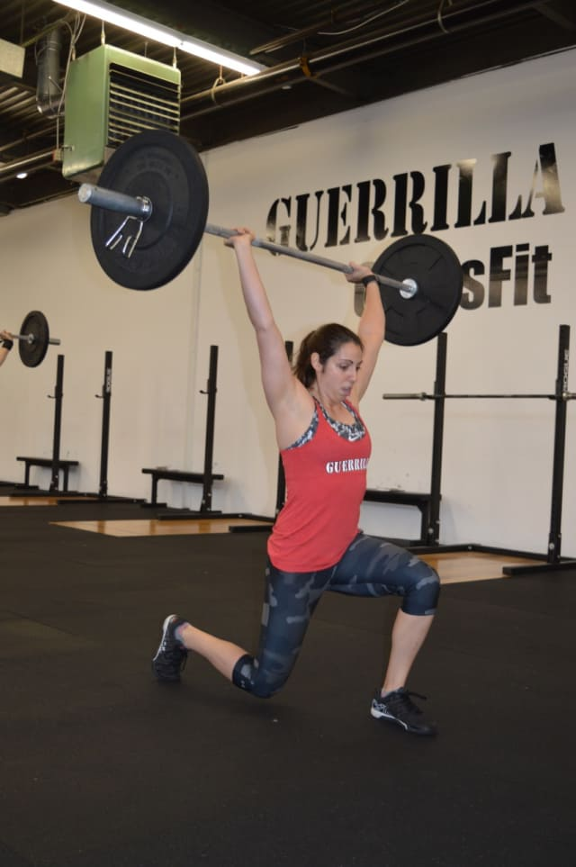 Dana Wilcomes, of Paramus, gets fit at Guerrilla Fitness.