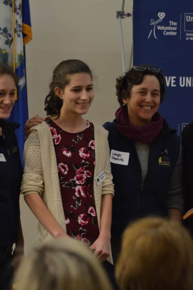 Alexandra Walker, who volunteered at Soundwaters so often that her students assumed she worked there, was honored at United Way's Volunteer Day awards ceremony Friday.