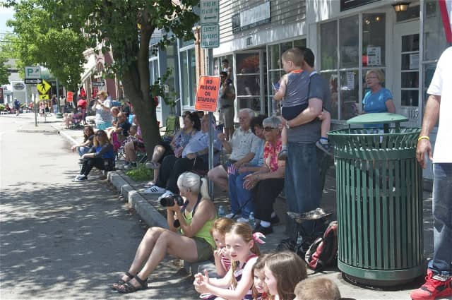 Residents line Main Street in Fishkill for the town's Memorial Day Parade.