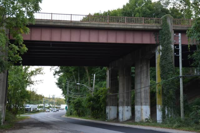 The Saw Mill River Parkway bridge in Mount Kisco, pictured in its old form in 2015 prior to the start of the replacement prokect.