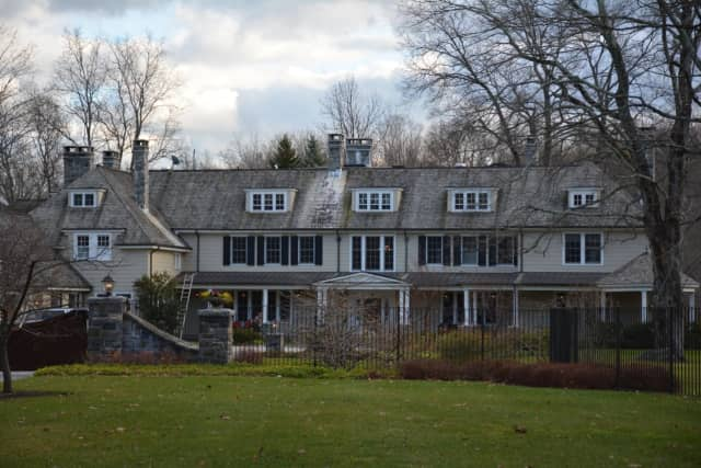 A mansion at 14 Cole Drive in Armonk, pictured, is the site for a proposed teen-depression treatment center.