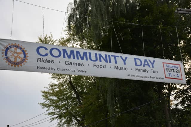 A banner for the Chappaqua Rotary Club's annual Community Day.