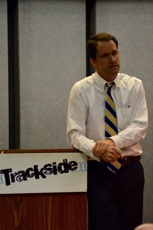 U.S. Rep. Jim Himes delivers a Congressional update to his constituents in Wilton on Thursday evening.
