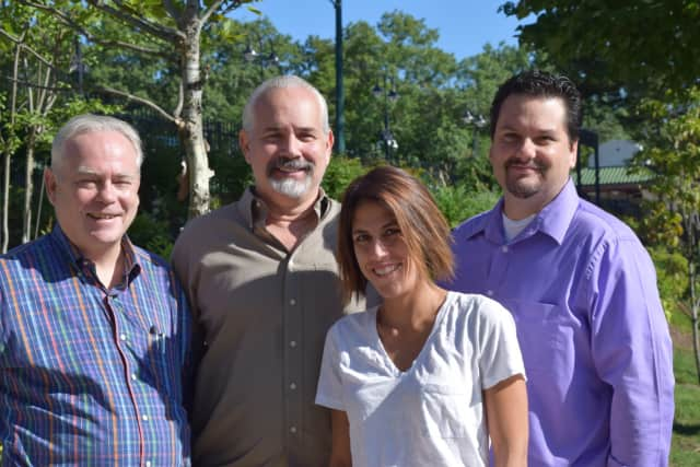Daily Voice's management team (left to right) CEO Carll Tucker, Bergen Passaic Managing Editor Jerry DeMarco, Chief Content Officer Andrea Graziano and Publisher Vince Carnevale, are excited to bring Daily Voice to New Jersey.