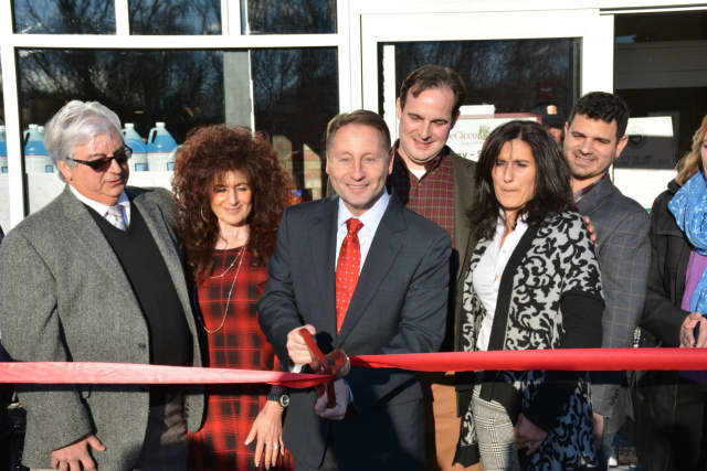 Seen here at the opening of a Millwood grocery store in early January, Westchester County Executive Rob Astorino has hit the fundraising trail heavy, raising more than $2.5 million for his re-election bid this November.