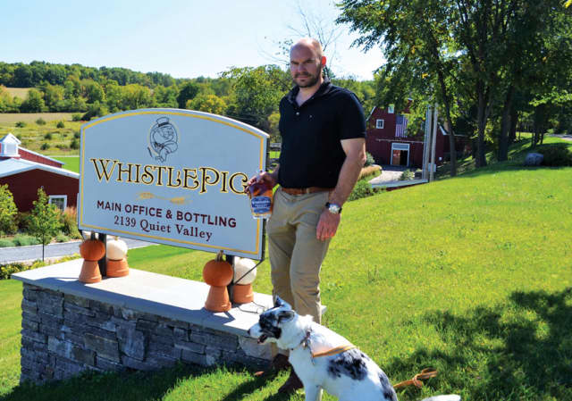 WhistlePig Farmstock Rye Whiskey CEO Jeff Kozak at the WhistlePig Farm in Shoreham, Vermont.
