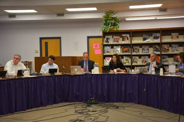 The Katonah-Lewisboro school board, pictured at its Nov. 17, 2016 meeting.