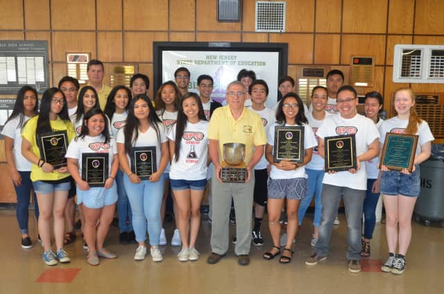 Bergenfield High School wins statewide Chemistry Olympics at NJIT.
