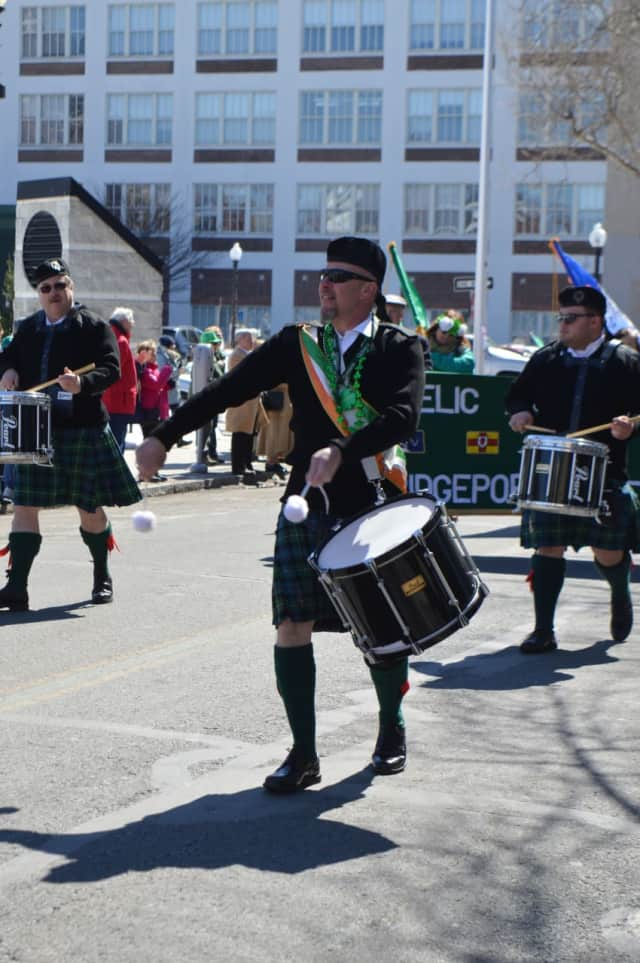 Drummers from the Fairfield County Gaelic-American Club participated in the 2017 St. Patrick's Day Parade.